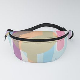 Abstract pattern with colorful circles Fanny Pack