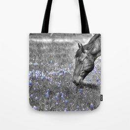 Horse & Bluebonnets Tote Bag