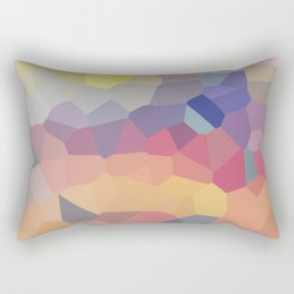 Pastel Geometric Moon Rise Rectangular Pillow