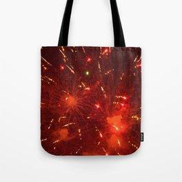 Red Fireworks Tote Bag