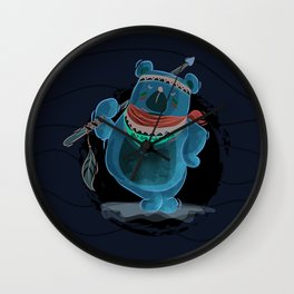 Artist bear Wall Clock