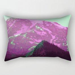 Green Air Vaporwave Mountains in Magenta, Washington Rectangular Pillow