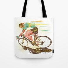 The Sprinter, Cycling Edition Tote Bag