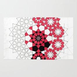 Pentagonal Rosett Rug
