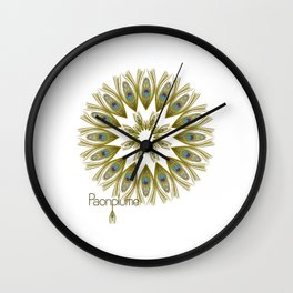 Paonplume Wall Clock