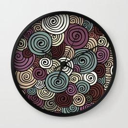 African lavender field  Wall Clock