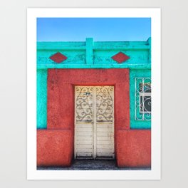 Door, White Iron (San Cristóbal de las Casas, Chiapas, Mexico) Art Print