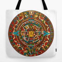 Aztec Mythology Calendar Tote Bag