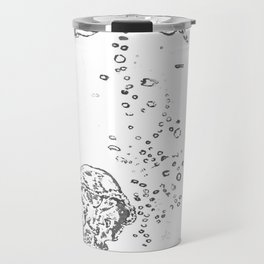 Two Tailed Duck and Jellyfish White Travel Mug