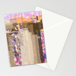 Floral Abstract City Stationery Cards
