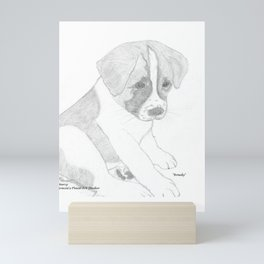 Portrait of Rowdy Mini Art Print