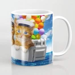Happy red cat fishing Coffee Mug
