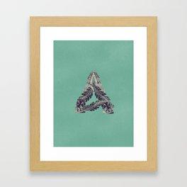 Letter A - Alphabet  Framed Art Print