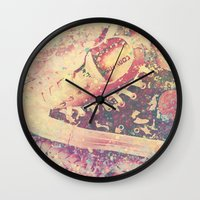 converse Wall Clocks featuring Converse by Nechifor Ionut