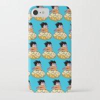 goku iPhone & iPod Cases featuring Son Goku by husavendaczek
