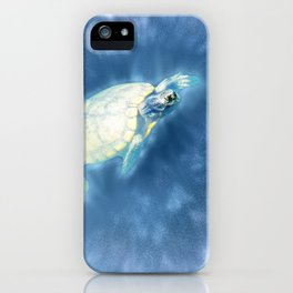 Psychedelic Space Turtle iPhone Case