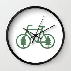 Pacific Northwest Cycling - Bike, Bicycle, Portland, PDX, Seattle, Washington, Oregon, Portlandia Wall Clock