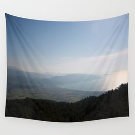 Cool Blue Sky and Green Plains of Gokova from Sakartepe Wall Tapestry