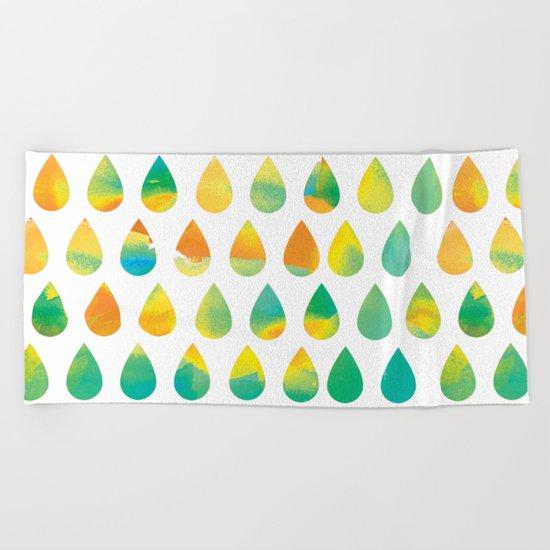 Monsoon Rain Beach Towel