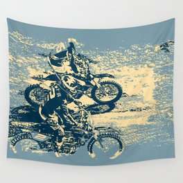 Dirt Track - Motocross Racing Wall Tapestry