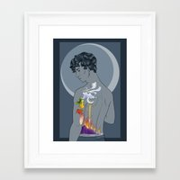 tattoos Framed Art Prints featuring Tattoos by barbitone