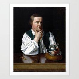 Paul Revere Portrait - John Singleton Copley 1768 Art Print