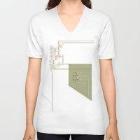 technology V-neck T-shirts featuring New Technology Commands by Schwebewesen • Romina Lutz