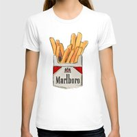 fries T-shirts featuring Fries by Sara Eshak