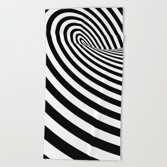 Dizzy lines - Optical game 16 Beach Towel