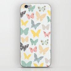 butterflies pattern iPhone & iPod Skin