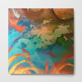 A place for lying down and look up / Botanic Metal Print