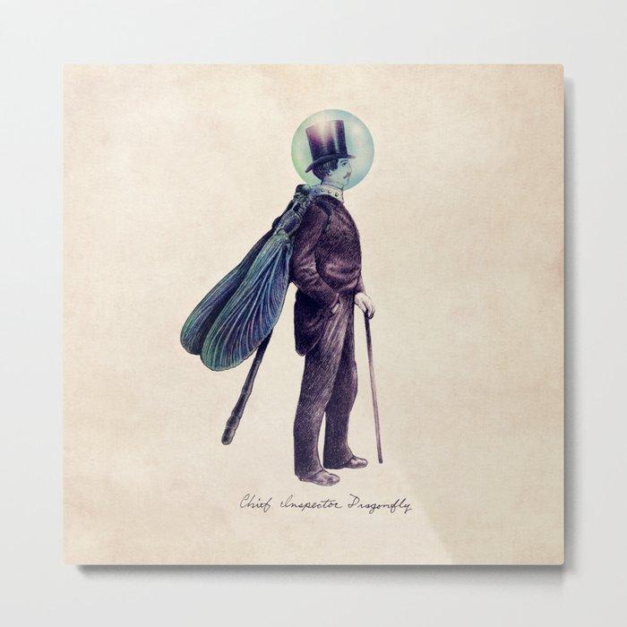 Inspector Dragonfly Metal Print