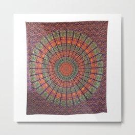 Boho Bohemian Wall Tapestry Metal Print