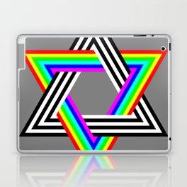 Six Stripe Hexagram Black White and Rainbow Laptop & iPad Skin