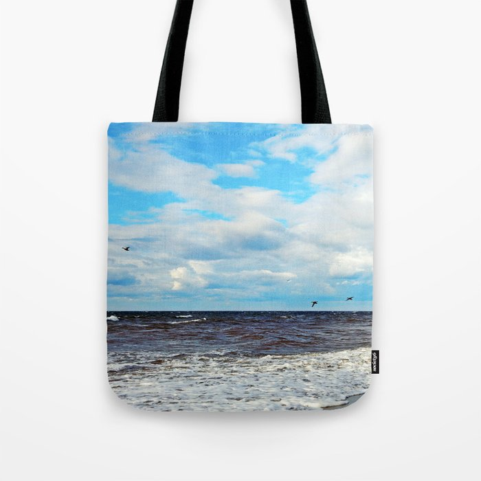 Flying Cormorants Tote Bag
