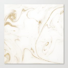 Elegant gold and white marble image Canvas Print