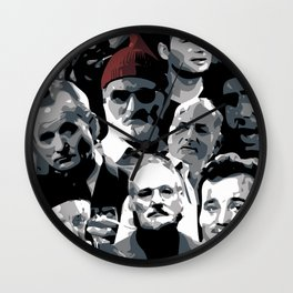 The many faces of Bill Murray Wall Clock