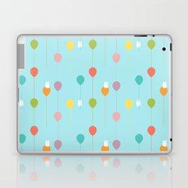 Fluffy bunnies and the rainbow balloons pattern Laptop & iPad Skin