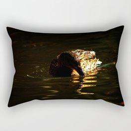 The swimming duck Rectangular Pillow