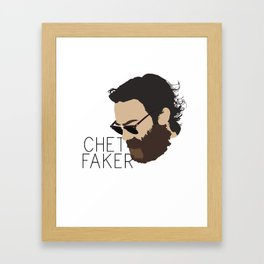Chet Faker - Minimalistic Print Framed Art Print