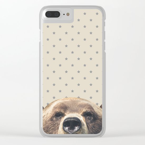 Bear and Stars Clear iPhone Case