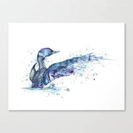 Loon - My Fathers Loon Canvas Print