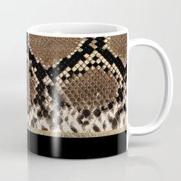 Modern black brown gold snake skin animal print Coffee Mug