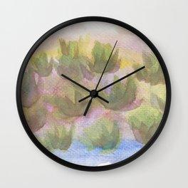 Green Lotus Wall Clock