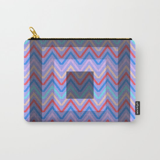 Chevron in shades of blue Carry-All Pouch
