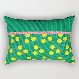 dot bag (green) Rectangular Pillow