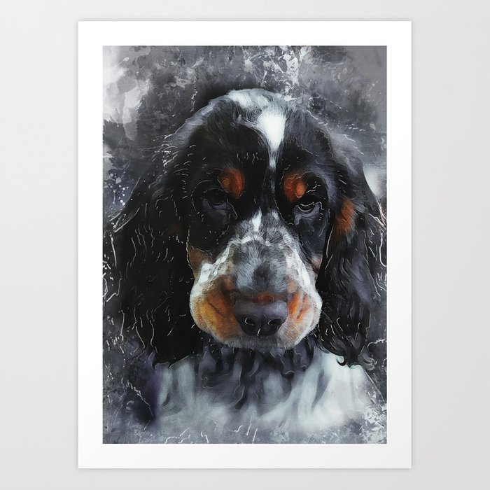 Cocker Spaniel dog #dog #spaniel Kunstdrucke