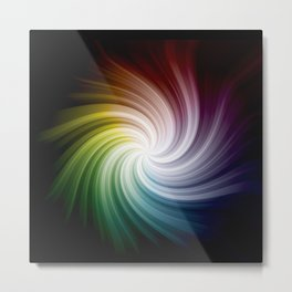 Rainbow Swirl Metal Print