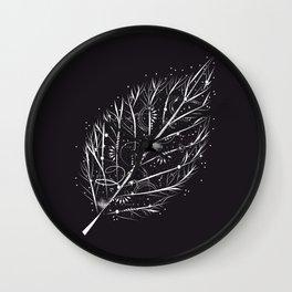 leaf veins Wall Clock