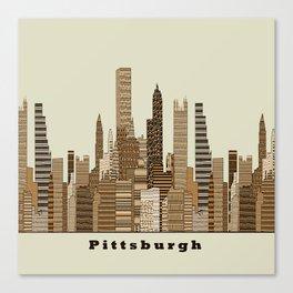 Pittsburgh skyline vintage Canvas Print